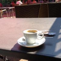 Espresso am Milchhäuschen